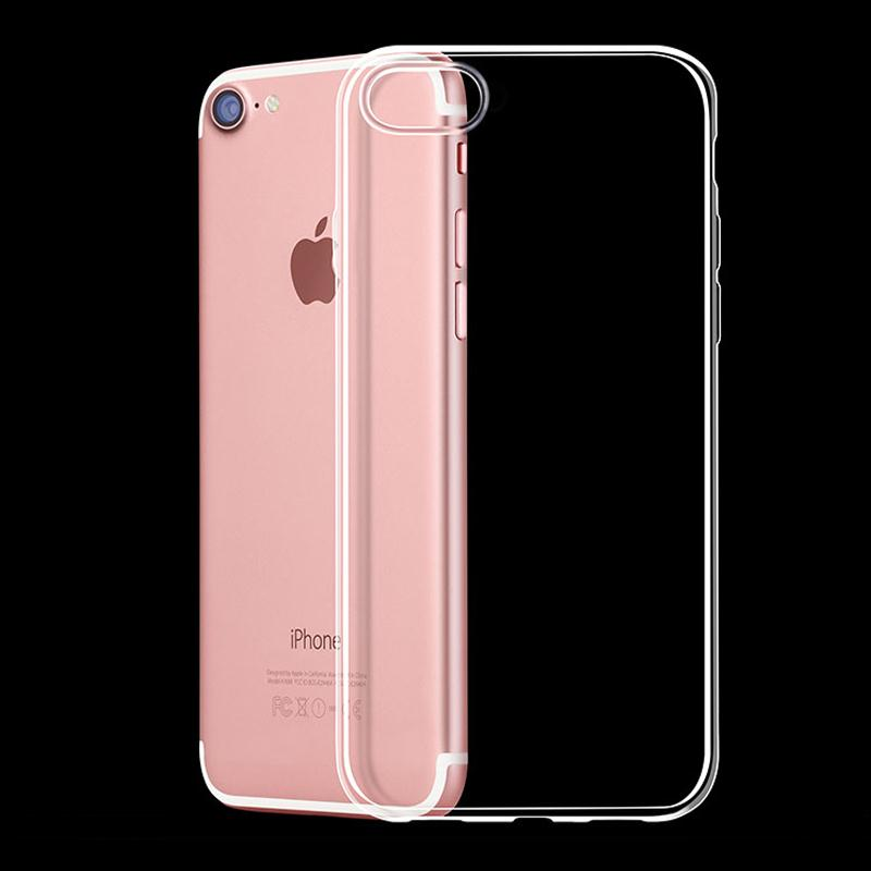 New item Fashion design crystal transparent soft TPU cell phone case for apple iphone 7 4.7 inch