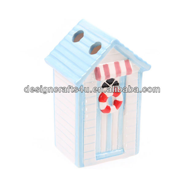 ceramic house shaped tooth brush holder