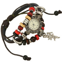 DIY leather bracelets watch wrap bracelet, ladies bracelet watches,cupid bracelet
