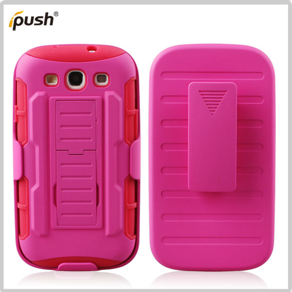 kickstand silicone case for Samsung Galaxy S3