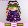 Bling Bling Multi-color Sparkle Fashion Shorts Wholesale Baby Girls Summer Sequin Shorts With Ribbon Bow