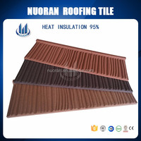 Nuoran most popular waterproof glazed french stone steel metal roof tile