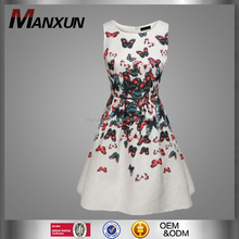 MANXUN Multicolor Women Sleeveless Flower Mini Dress And The Evening Cocktail Garden Bubble Party Dresses