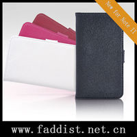 for Galaxy Note 2 wallet leather case N7100 cross pattern
