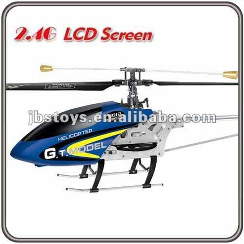 Big 3.5CH Full Metal Single Blade Lcd Rc Helicopter Coaxial Heli