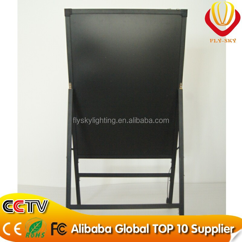 Alibaba new products 60*80cm integrated A- stand advertising LED writing board stand up advertising board for shops promn otio