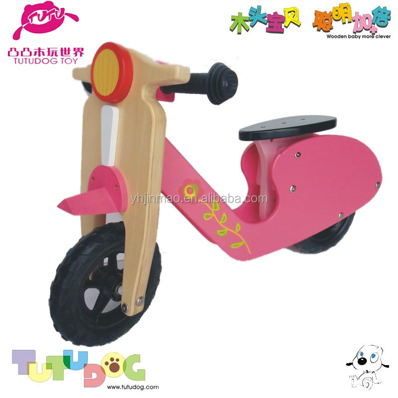 2015 newest wooden paint art scooter for children