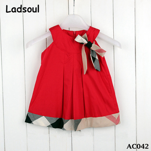 2017 China Supplier Wholesale Summer Kids Cute Doll Dress Bow Baby Dress Girls
