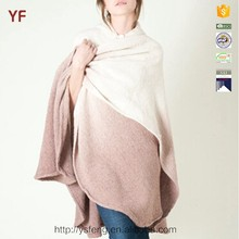 Hooded cape poncho fleece blanket knitted poncho