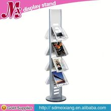 brochures Metal displays, MX9052 floor standing book display shelf