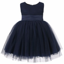 Baby Girls Satin Frocks Design children clothing wholesale kids beautiful model dresses