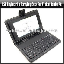 "USB Keyboard and Carrying Case for 7"" ePad Tablet PC,YAM106A"