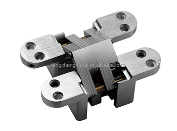 118MM 180 degree heavy duty concealed cross hinges(double holes)