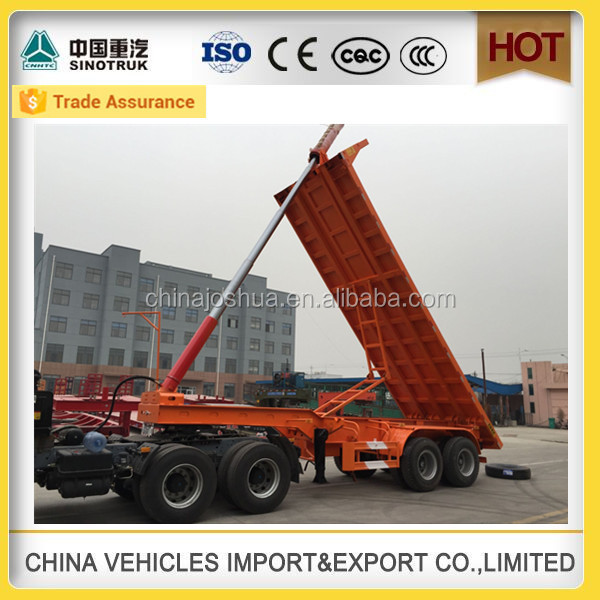 china new cars high-end tipper log loader 3 wheel truck with trailer