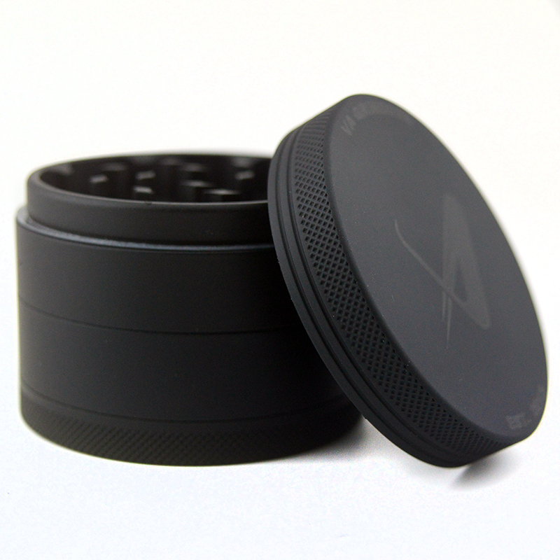 4 Part Herb Grinder Leaf Tobacco Grinder aluminum Space case With Pouch