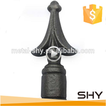 cast Iron spear point wrought iron grey for gate fence railing component