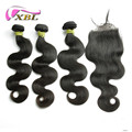 2017 Hot Sale Factory Price Free Sample Human Hair Bundles With Closure