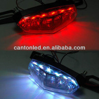 Motorcycle Rear LED Brake/Tail/Turn/License Plate Lights SMOKE Universal 6 LED
