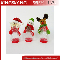 Tree shaped plastic clear high quality christmas candy jar