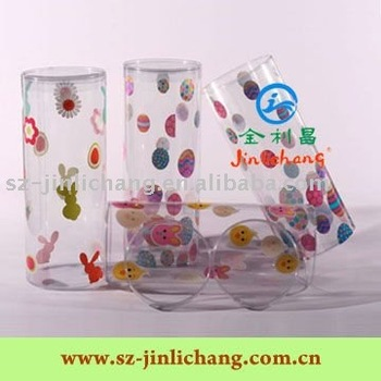 Small clear round plastic packaging cylinder box for gift/food