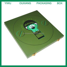 2018 green lacquer finish cd wooden box hot sale factory