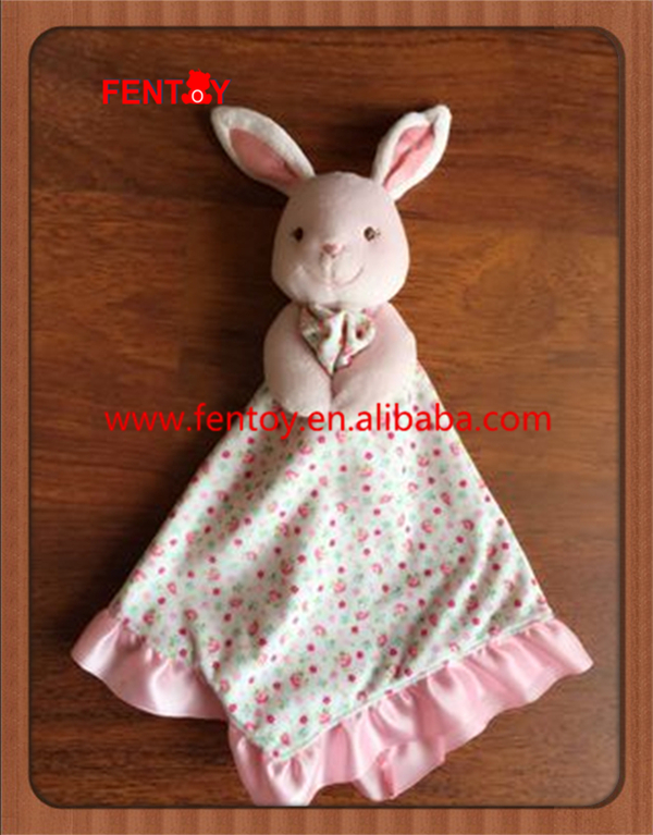 Beauty plush rabbit guangzhou baby blanket toys for kids gift