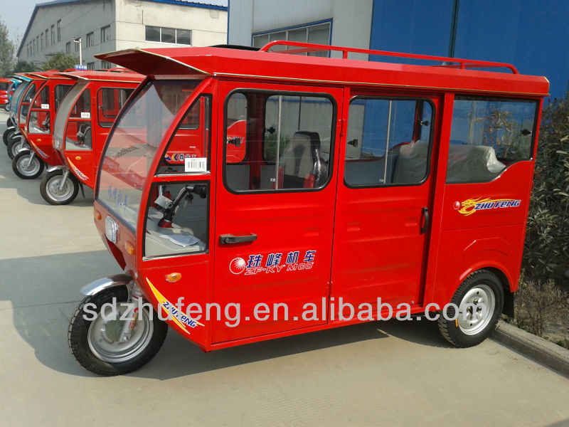 Mini taxi auto passenger Hybrid tricycles with cover