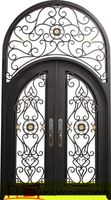 Beautiful antique exterior wrought iron security door / window with grill for villa