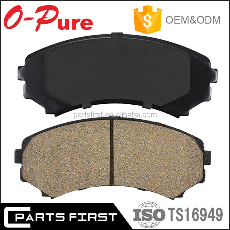 Top Quality OEM Auto Car Ceramic Less-metallic Semi-metallic Brake Pad Manufacturers For Peugeot 206 207 208 307 308 405 408