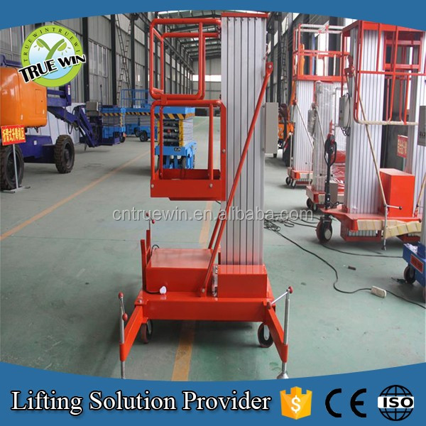 100KG 10m hydraulic home elevator/movable single mast personal lift