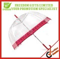 Simple Clear Dome Transparent Umbrella