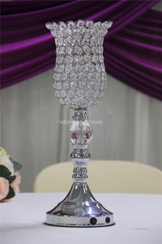 wedding decorations crystal beaded silver centerpieces with led light