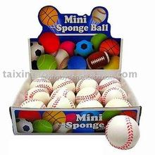 "Kids Play PU Ball MINI SPONGE BALL 3""IN BASEBALL"