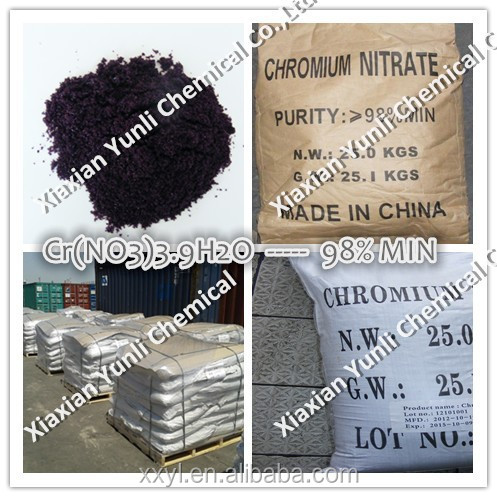 98% Chromium Nitrate Cr(NO3)3.9H2O