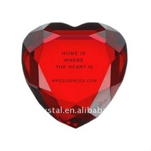 red heart shape Crystal diamond &wedding gift paper weight