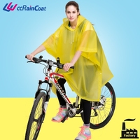 Biker use plastic material rubber rain coat for bike