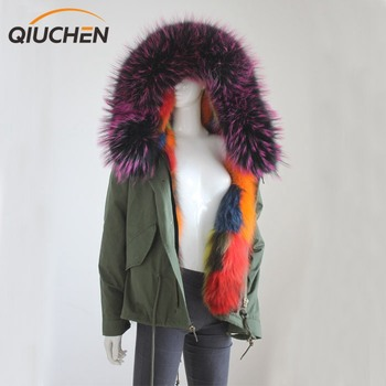 QC8015 fur lined parka high end quality level