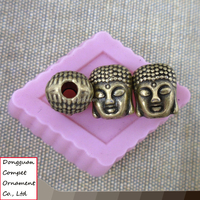 DIY beads accessories ancient bronze alloy buddha head jewelry beads