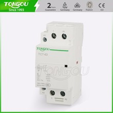 AC-1 7a 7b 2P 1NC 1NO AC modular contactor for household DIN rail mounting type