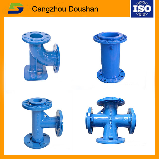 cast iron pipe fittings/loosing flange/socket tee bend cross/China foundry