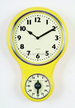 Colorful plastic wall cheap timer kitchen clock