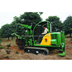 Professional tree spade used in garden