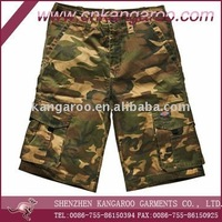 High Quality Cotton/Polyester Military Camouflage Short/Multi-Purpose Cargo Shorts
