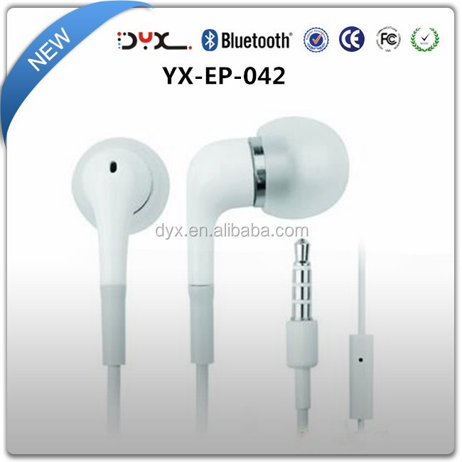Plain White Color High Quality Original Earphone For Samsung Galaxy Note