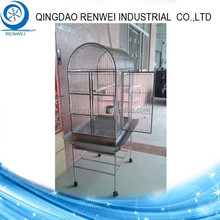 High Quality Metal Wire Parrot Cage /Metal Wire Birds Cage with 4 Rubber Wheels