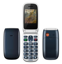 2014 Unlocked Filp GSM Mobile phone with 2.2 inch Dual SIM Big keyboard Big font enjoy mobile phone