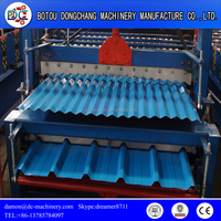 Top Popular Hydraulic Automatic Color Steel Metal Tile Sheet Roof Steel Glazed Roll Forming Machine