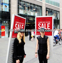 J1A-196 High quality mobile new media outdoor LED sign stand alone advertising display stand with lithium battery