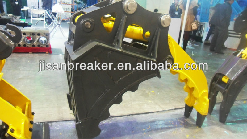 excavator grapple bucket attachments Rotating Log Stone Grapple for Excavator