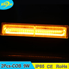 Auto parts 9W/18.2CM mini grille emergency lights waterproof used police warning lights